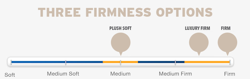 Three Firmness Options